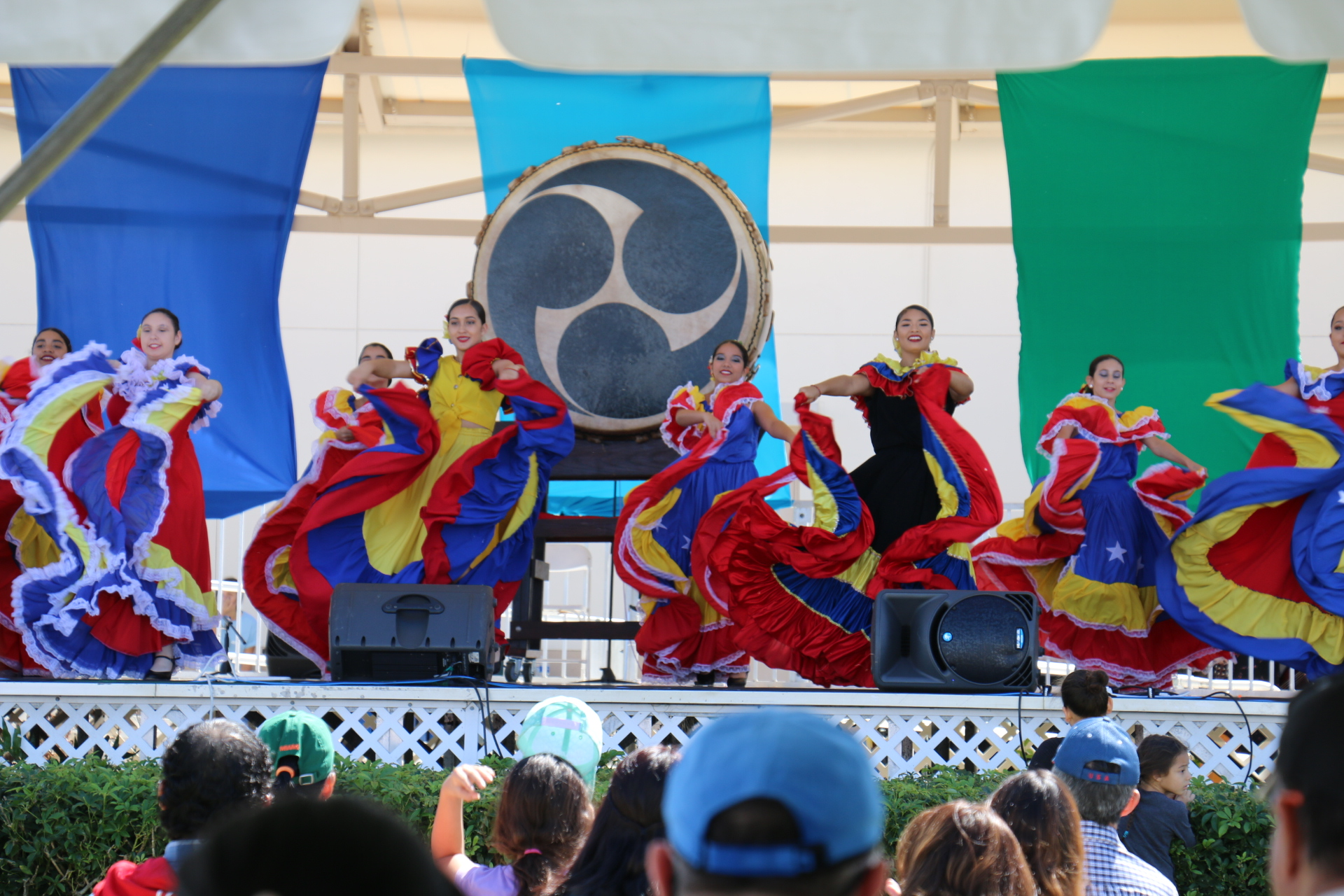 Costumed dancers at Weston World Fest