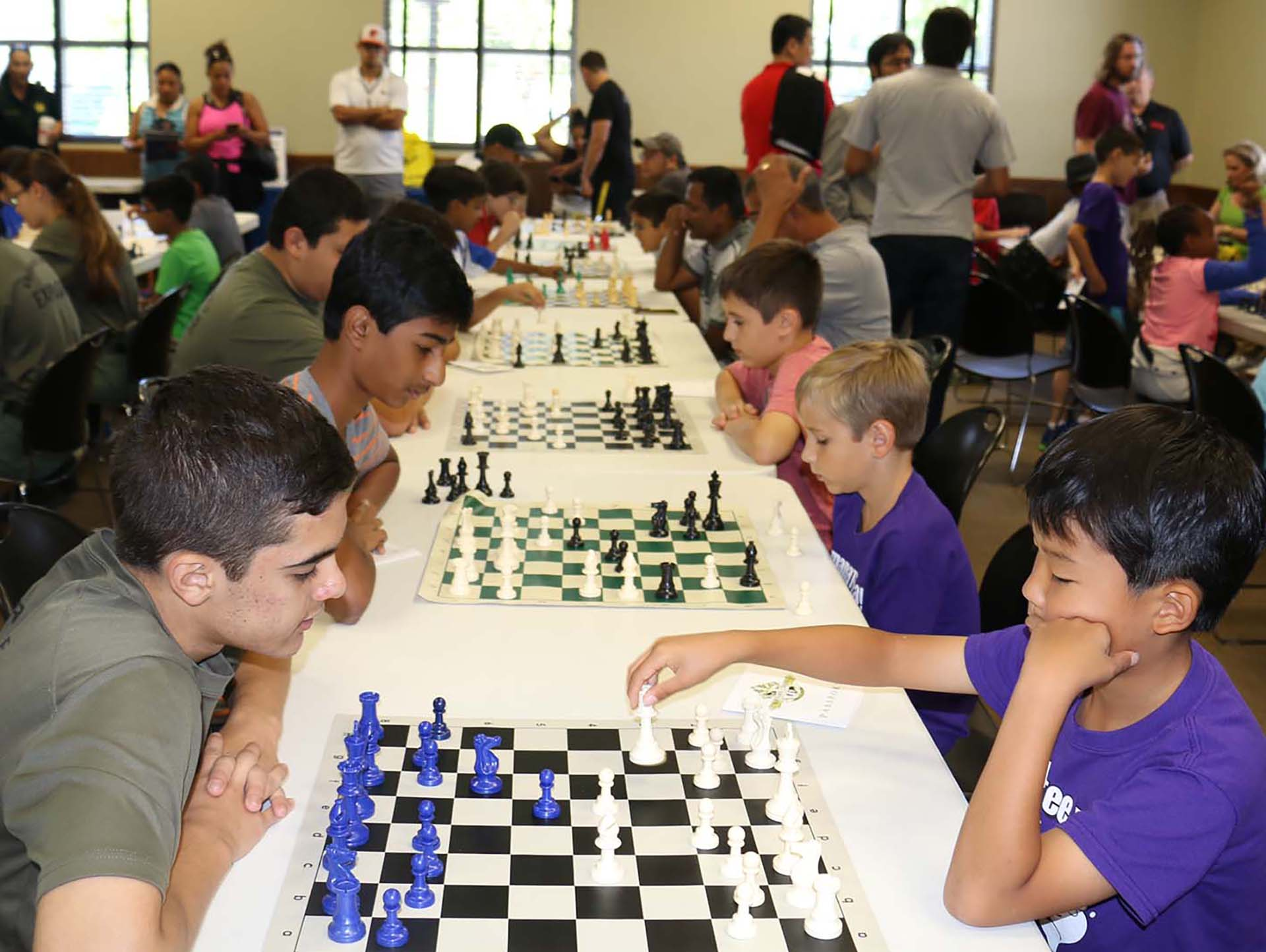 students playing chess at Mayors Chess Challenge