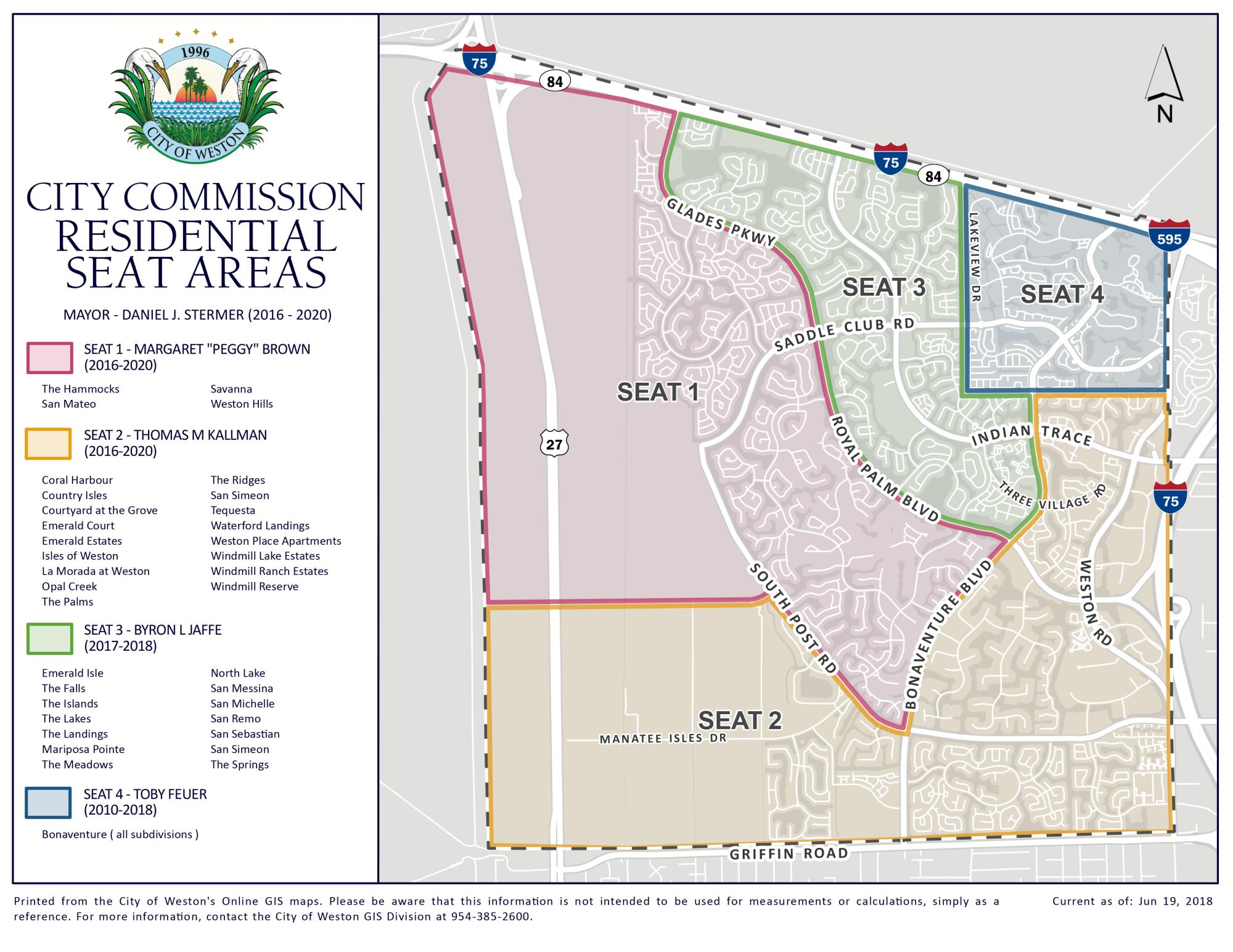 City Commission Residential Seat Areas Map