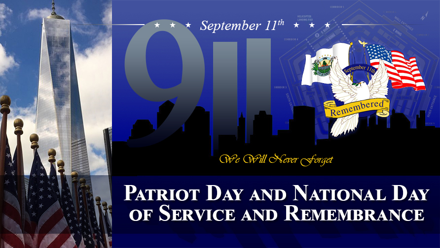 911 Patriot Day and National Day of Service and Rememberance