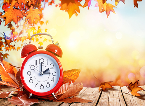 Daylight Saving Time ends Sunday, November 3rd at 2 AM