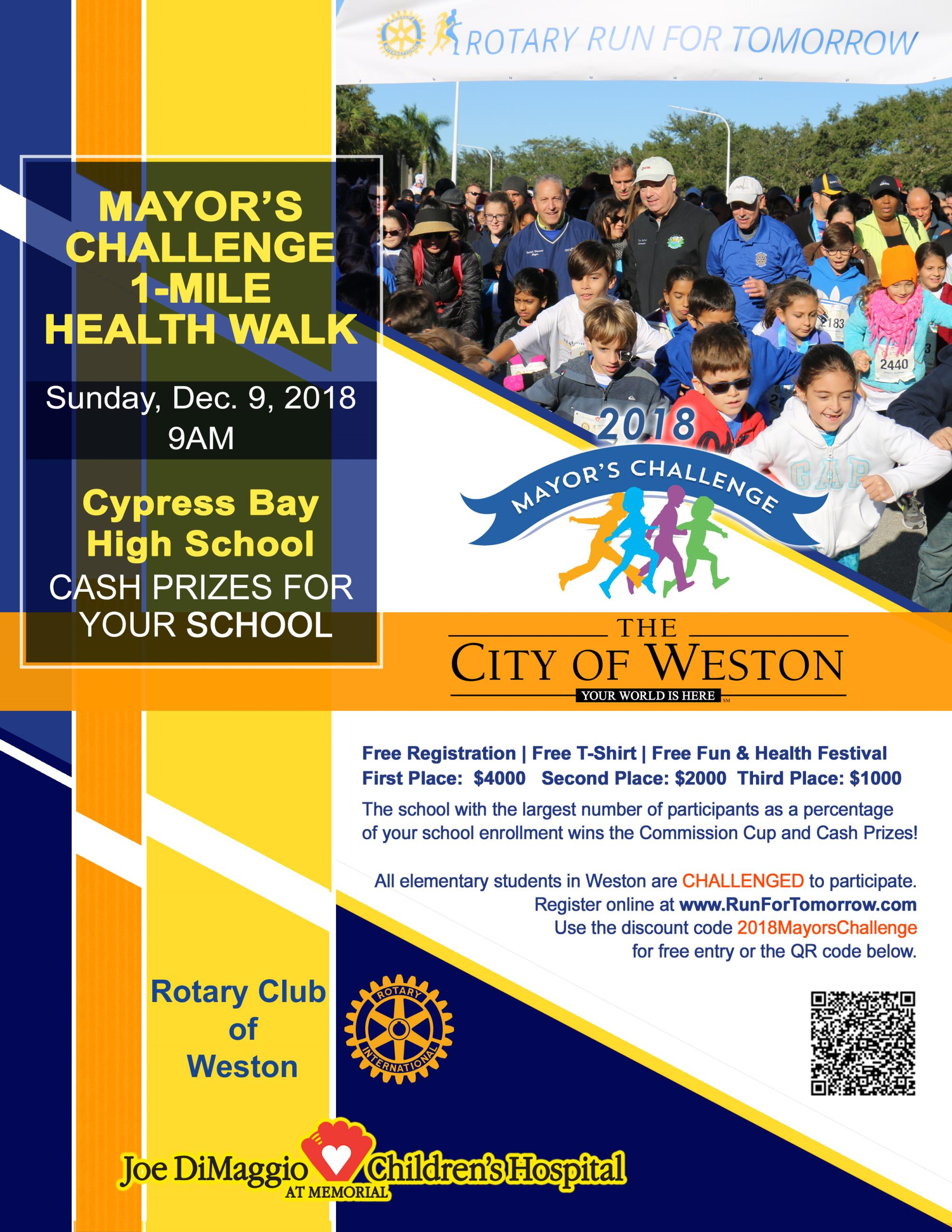 2018 Mayor's Challenge Flyer