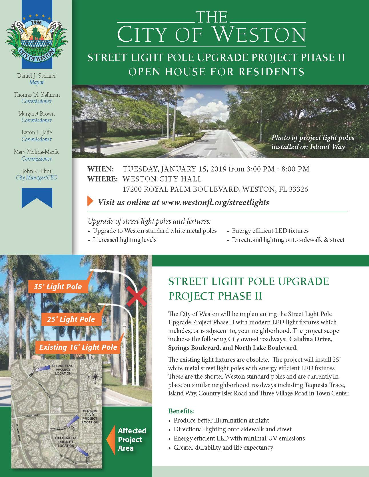 Weston Street Light Pole Upgrade Project Phase II Flyer_1-15-19
