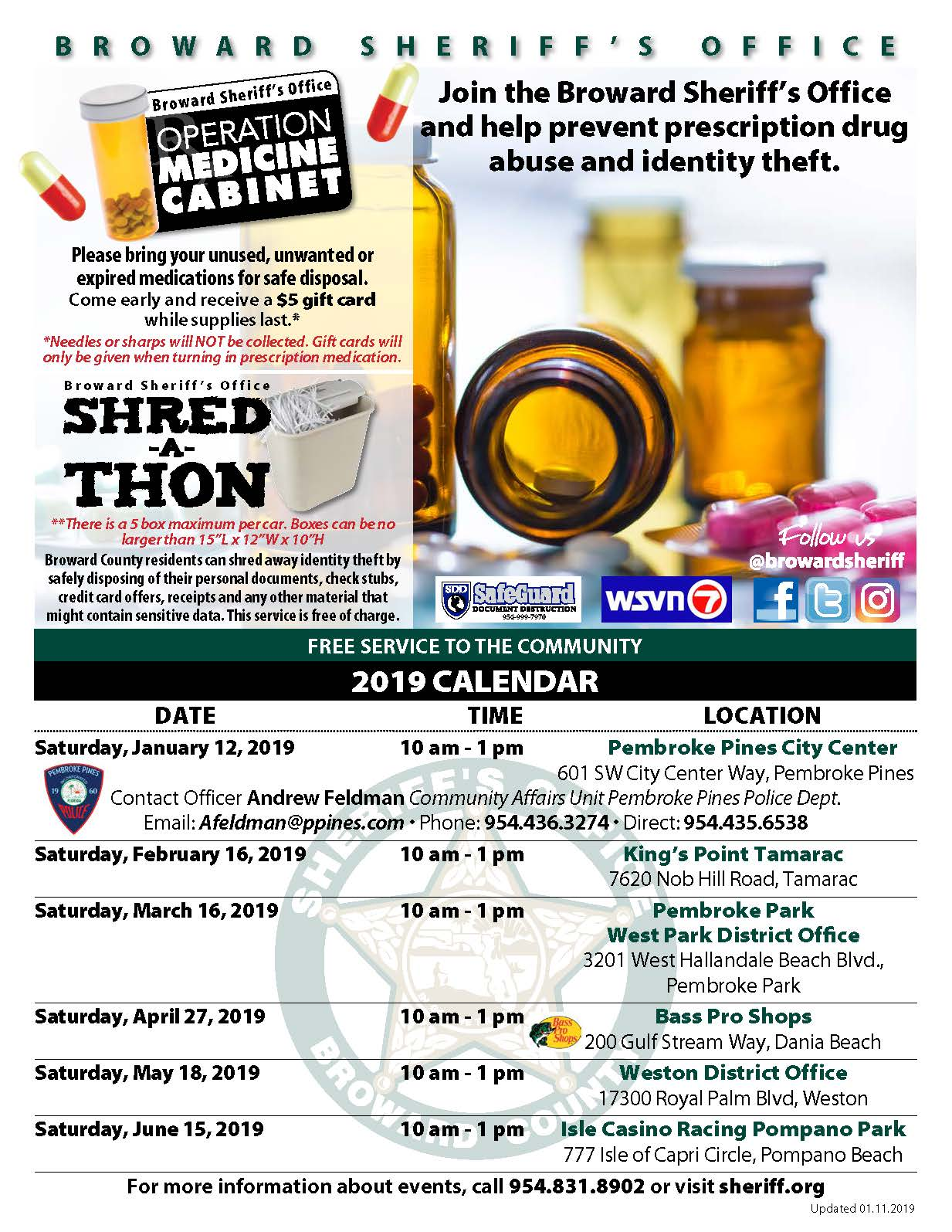 BSO Shred-a-Thon & Operation Medicine Cabinet | Events