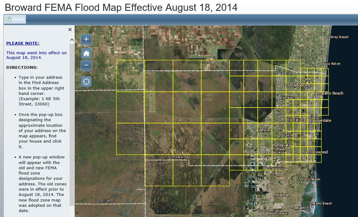 Florida Flood Zone Map.Fema Flood Zones City Of Weston Fl