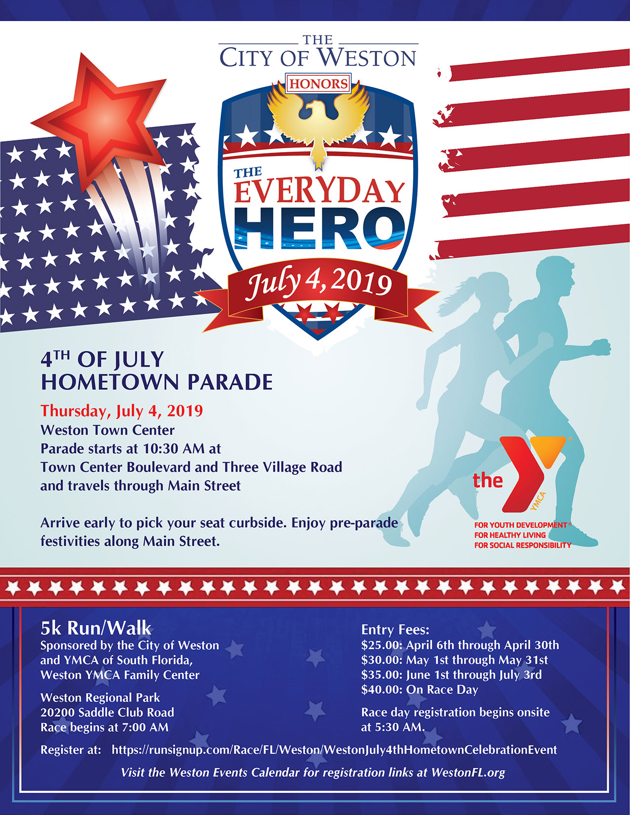 2019 July 4 Run and Parade in Weston