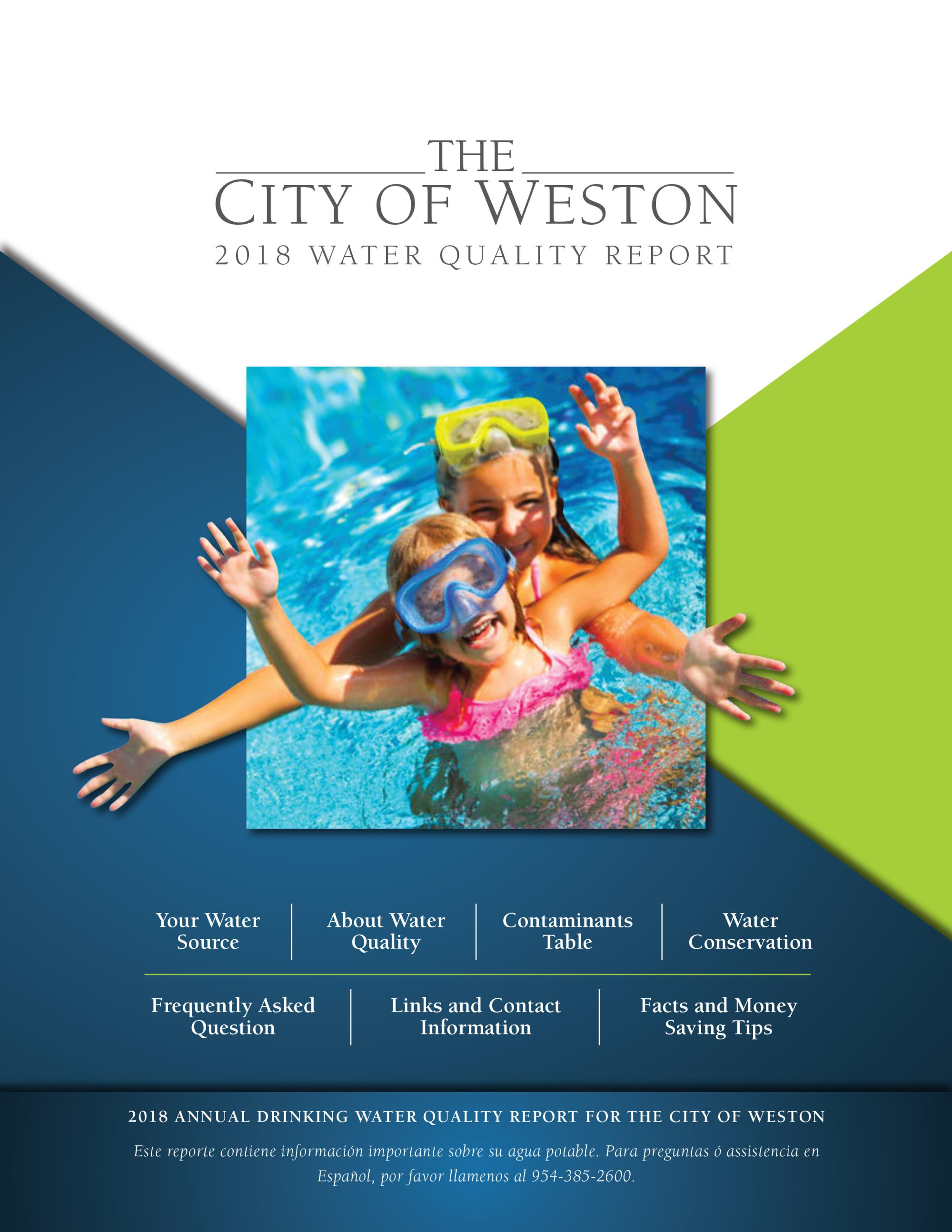 2018 Weston Water Quality Report - Cover Page