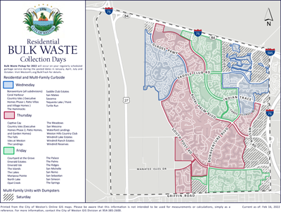 Residential Bulk Trash Collection | City of Weston, FL
