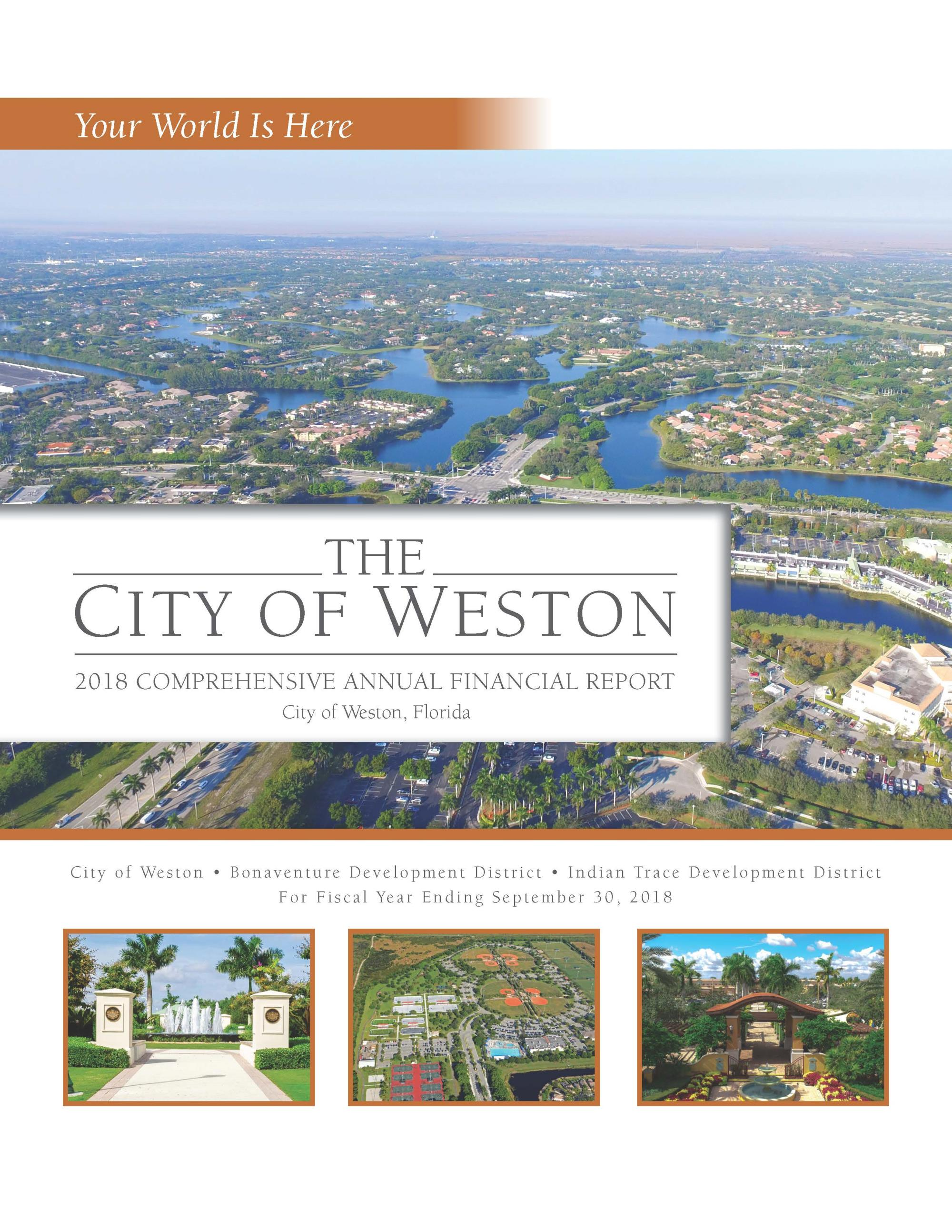 2018 City of Weston CAFR Cover
