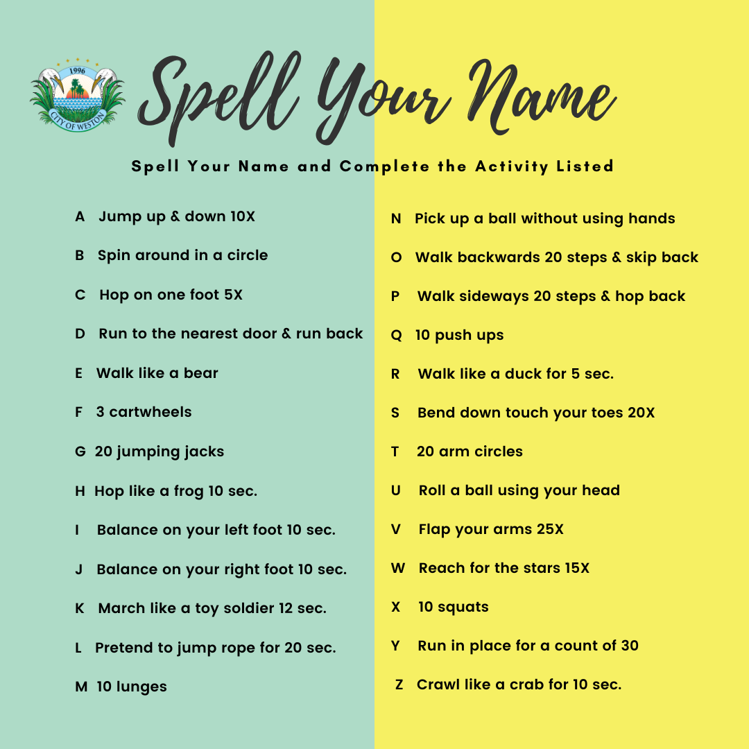 Spell your name activity