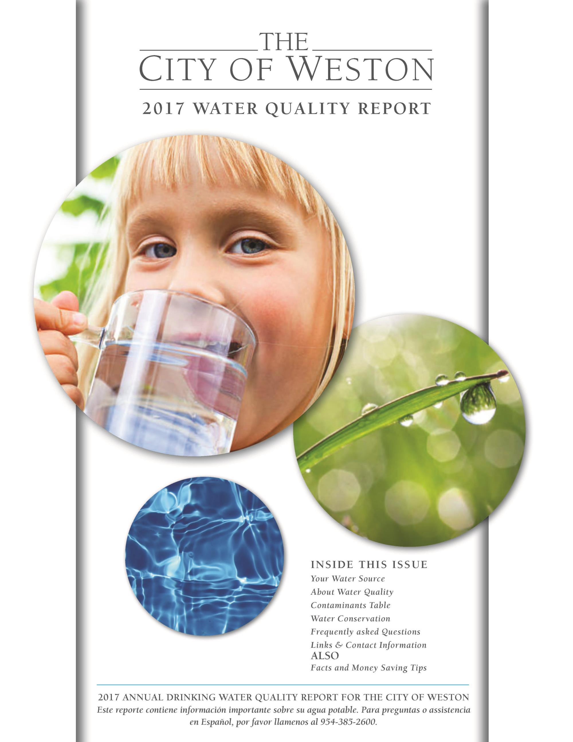 City of Weston 2017 Water Quality Report (Cover)